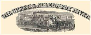John Pitcairn Jr. - Oil Creek and Allegheny River Railway stock certificate vignette