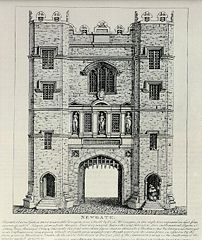 Newgate, the old city gate and prison.