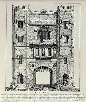 Newgate, the old city gate and prison