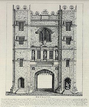 Newgate, the old city gate and prison