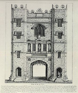 Percy–Neville feud - The medieval prison of Newgate, where the Percy brothers were imprisoned and from whence they escaped two years later.