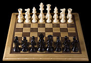 Opening chess position from black side
