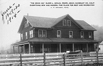 Orick, California -  The original Orick Inn