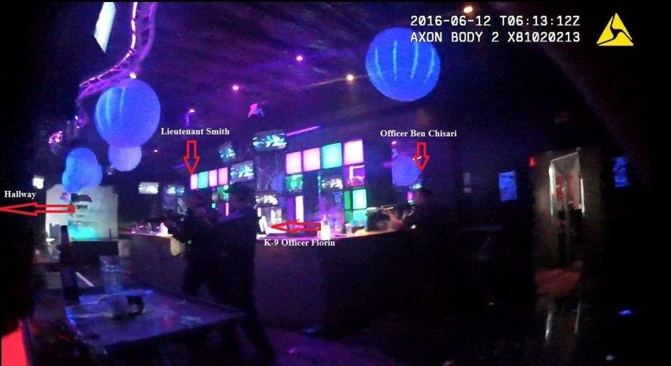 Orlando Police Department officers enter Pulse Nightclub, 2016