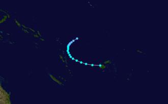 1986–87 South Pacific cyclone season - Image: Osea 1986 track