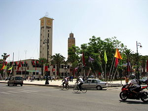 Oriental (Morocco) - Main square of Oujda, the regional capital and largest city.