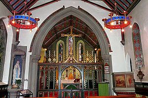 Our Lady and St Wilfrid's Church, Warwick Bridge - Image: Our Lady and St Wilfrid Church, Warwick Bridge interior by Rose and Trev Clough Geograph 4303909