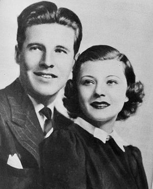 The Baker's Broadcast - Ozzie and Harriet Nelson were heard on all three versions of The Baker's broadcast. (Image from Radio Mirror magazine October 1936)