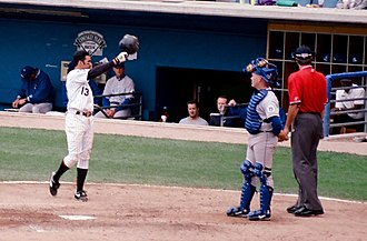 Ozzie Guillén - Guillén tips his helmet to the Comiskey Park crowd before his last at-bat as a White Sox player – September 28, 1997