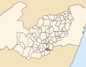 Palmeirina - Location of Palmeirina within Pernambuco.