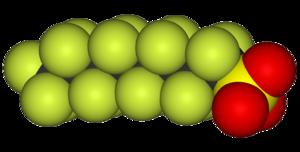 Fluorosurfactant - Space filling model of PFOS