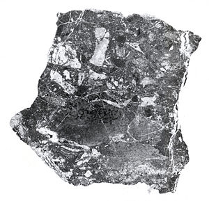 Breccia pipe - Breccia is typically silicified and consists of many smaller irregular rock fragments.