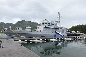 Seychelles Coast Guard - Image: PS Constant docked at the Seychelles Coast Guard base before the handing over this morning
