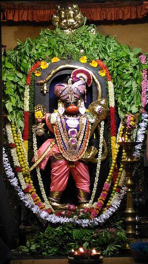 Ashtamsa Varadha Anjaneyar Temple - Lord Hanuman in Raja alankaram