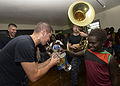 Pacific Fleet Band performs at primary school during Pacific Partnership 2015 150701-N-PZ713-647.jpg