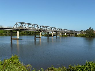 Taree - The Martin Bridge, which carries traffic over the Manning River