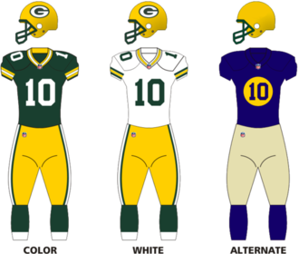 2013 Green Bay Packers season - Image: Packers 13uniform