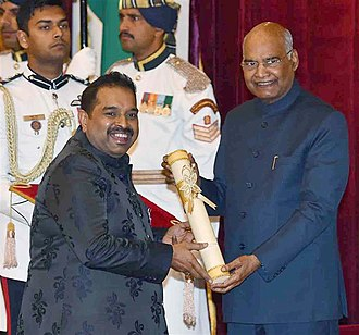 Shankar Mahadevan - The President, Shri Ram Nath Kovind presenting the Padma Shree Award to Shri Shankar Mahadevan, at an Investiture Ceremony, at Rashtrapati Bhavan, in New Delhi on March 11, 2019
