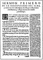 Padre Luis de Valdivia - Primer sermón bilingue Mapuche - Español (1606).jpg