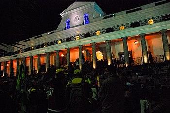 Palacio Carondelet en la noche