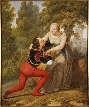 Beatrice di Tenda - Orombello and Beatrice, by Pelagio Palagi, 1845