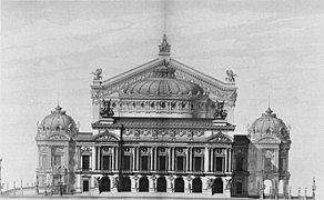 Palais Garnier elevation of the principal facade - Mead 1991 p102.jpg