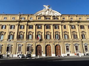 Ministry of Economy and Finance (Italy) - Palazzo delle Finanze, headquarters of the Ministry of Economy and Finances.