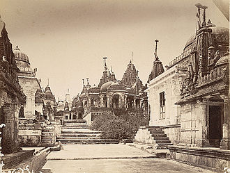 Palitana State - View of the Palitana Temples in 1860