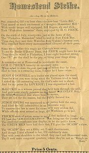 PamphletHomesteadStrikeLyrics1892