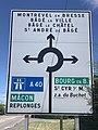 Panneau Directions Rond Point Croisée Route Pont Veyle St André Bâgé 2.jpg