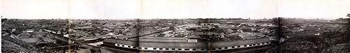 A Panorama shot of Edo (present day Tokyo)