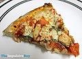 Papa John's Grilled Chicken Margherita Pizza Slice (20537763096).jpg