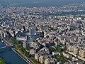 Paris Tour Eiffel Blick von der 3. Ebene auf Radio France 1.jpg