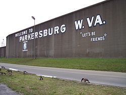 The Parkersburg floodwall