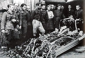 "Hieronim Dekutowski - Partisans funeral 1946- soldiers of ""Zapora"" unit"