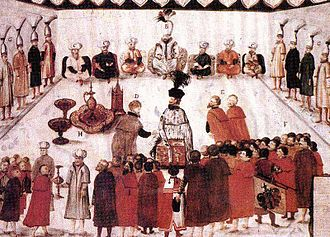 Budin Eyalet - The pasha of Budin receives the envoy of the Ottoman Sultan.