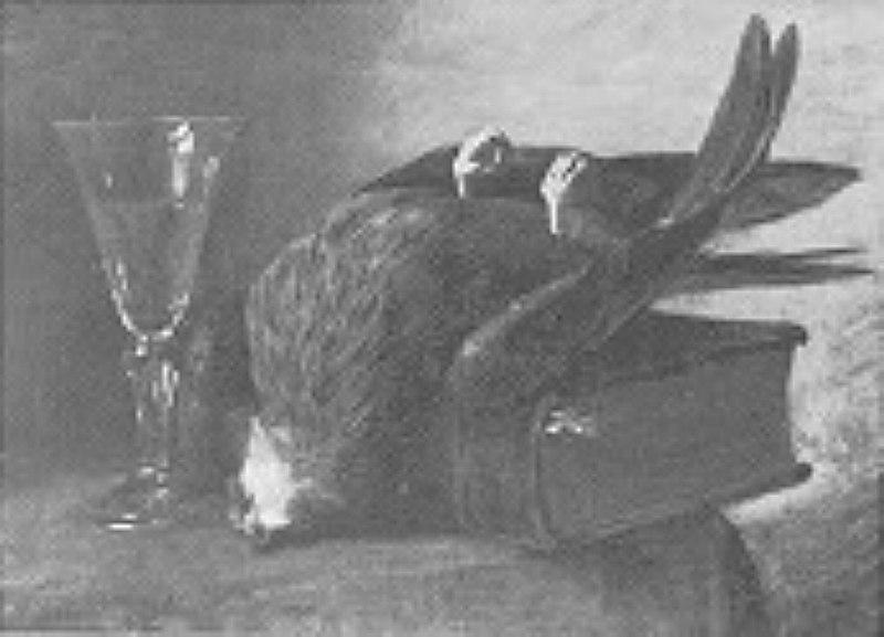 File:Paul Meyerheim - Erlegter Raubvogel auf einem Folianten - BG-M-SG 5685^92 - Berlinische Galerie.jpg