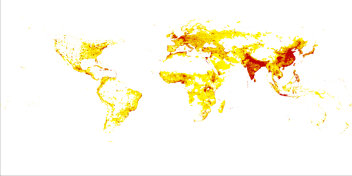Figure: Long-term population density map (PC1).