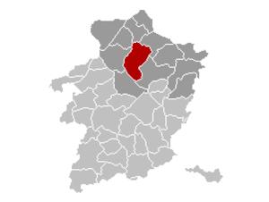 Peer, Belgium - Image: Peer Limburg Belgium Map