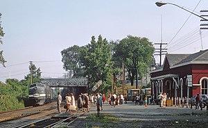 Hudson station (New York) - A New York Central train at Hudson, 1968