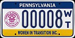 Pennsylvania 2009 Women In Transition Inc. license plate.jpg