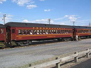 Shamokin Valley Railroad - Restored 1920s Pennsylvania Railroad passenger cars used for tourist excursions on the Shamokin Valley Railroad.
