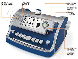 Perkins Brailler - The SMART Brailler, invented by David S. Morgan in 2012 combines Next Generation ease of use with modern text-to-speech audio/visual technology (a speaker and digital display) to further aid in Braille literacy.