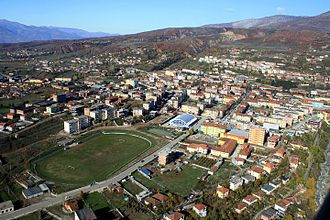 KF Korabi Peshkopi - Aerial view of the Korabi Stadium