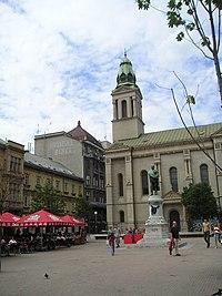 Petar Preradović square in Zagreb.jpg