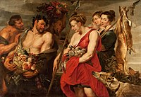 Peter Paul Rubens - Diana Presentig the Catch to Pan - WGA20291.jpg