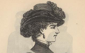 Peterson's Ladies National Magazine, June, 1883 - women's hat fashion 07.png