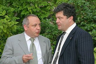 Petro Poroshenko - Poroshenko attending a U.S. Independence Day celebration at the U.S. Embassy in Kiev, 6 July 2005.
