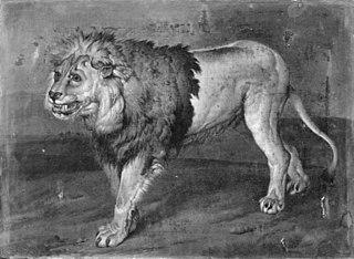 A Lion in a Landscape