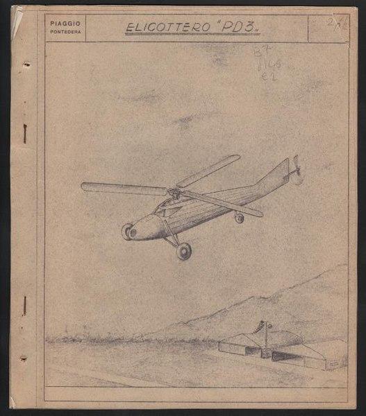 File:Piaggio, relazione tecnica sull'elicottero PD3, Pontedera 1949 - san dl SAN TXT-00003406.pdf